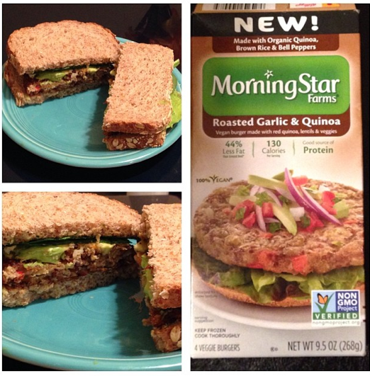 Product Review: New Morning Star Farms Vegan Roasted Garlic and Quinoa Burgers